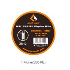 Fio SS316L MTL Clapton 3 Metros - Geekvape